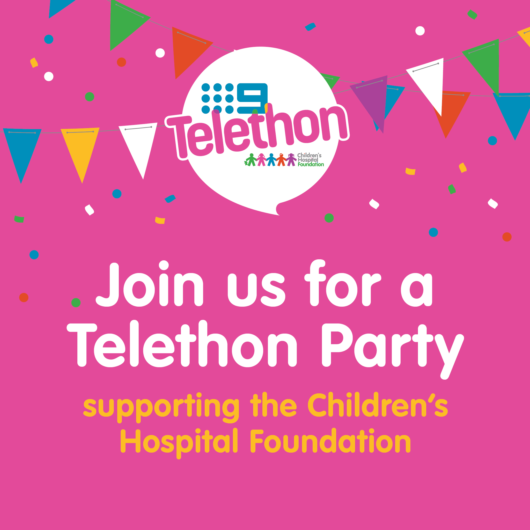 Join Us - Telethon Party Social Tile