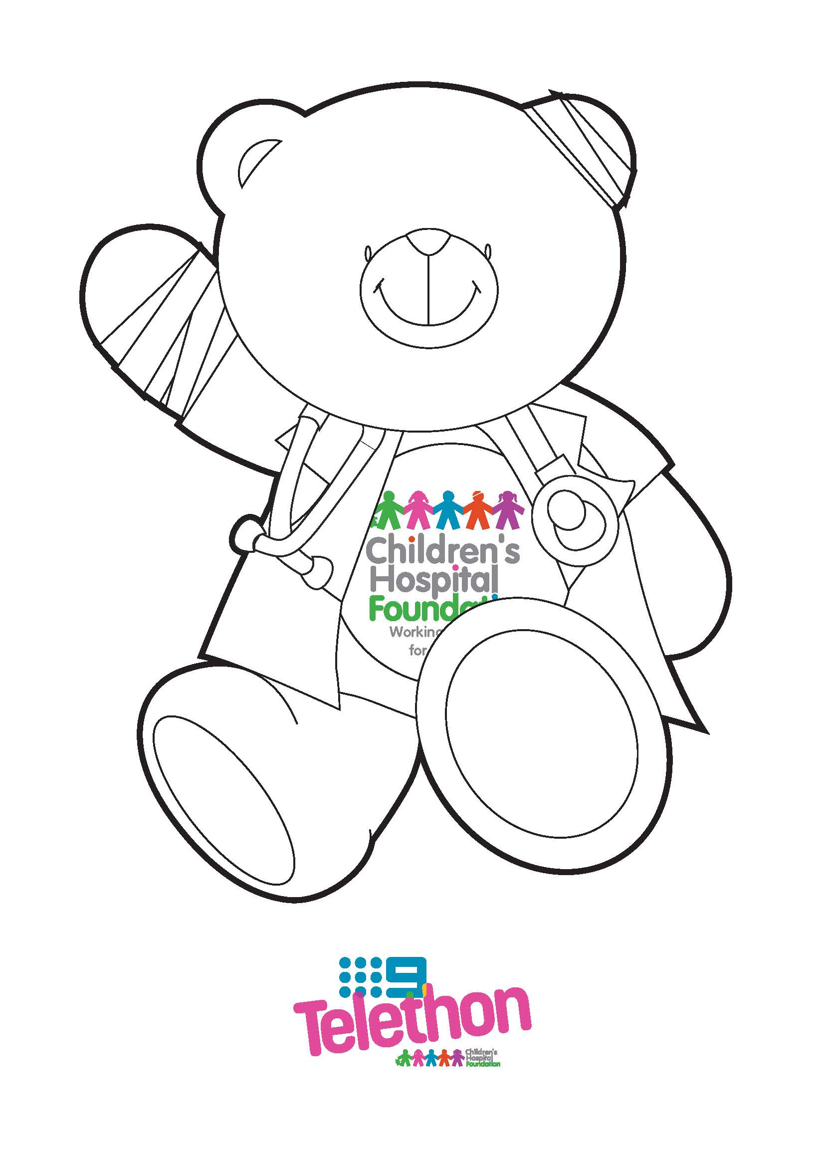 Colouring In Wonder Bear - Doctor