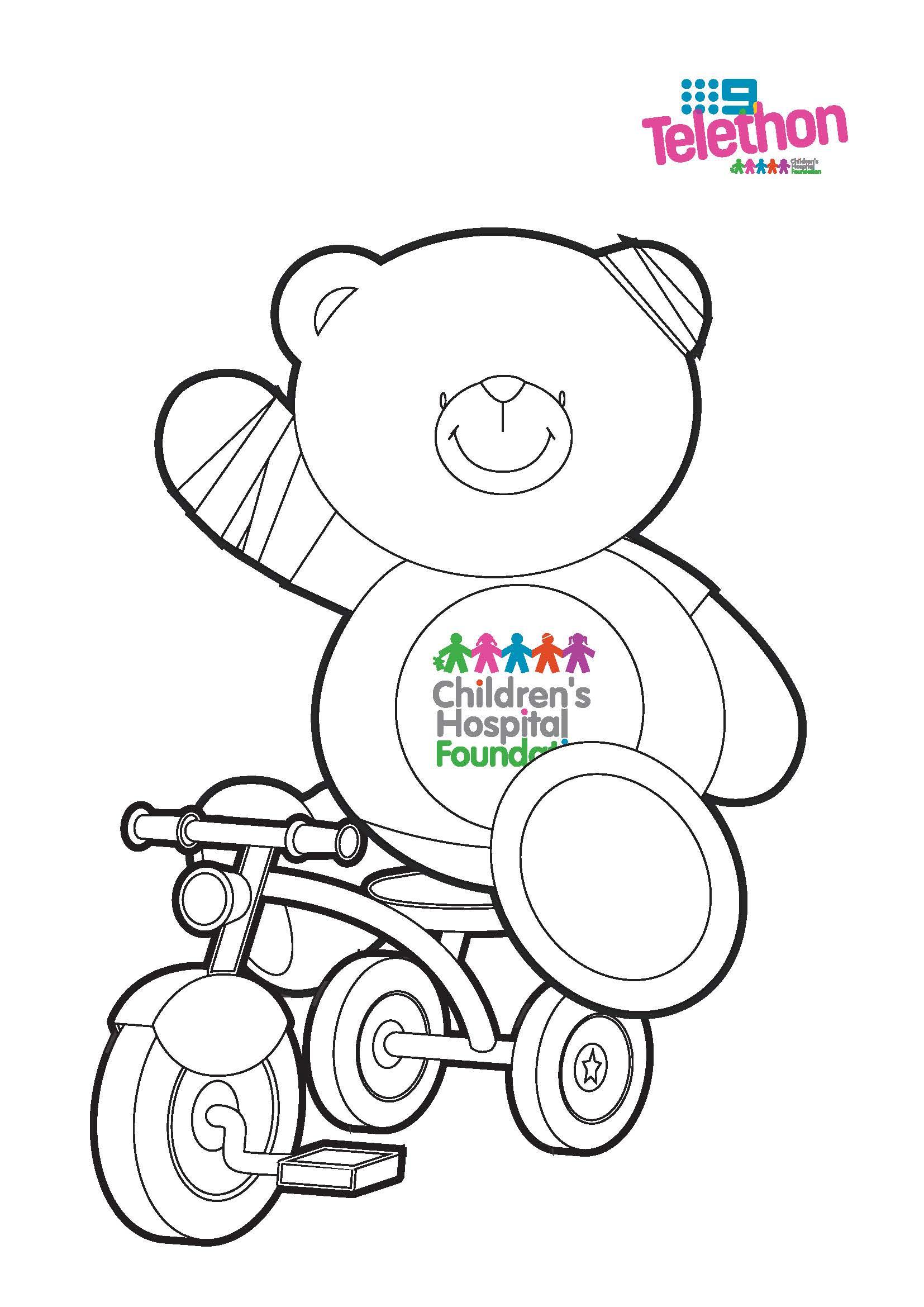 Colouring In Wonder Bear - Trike