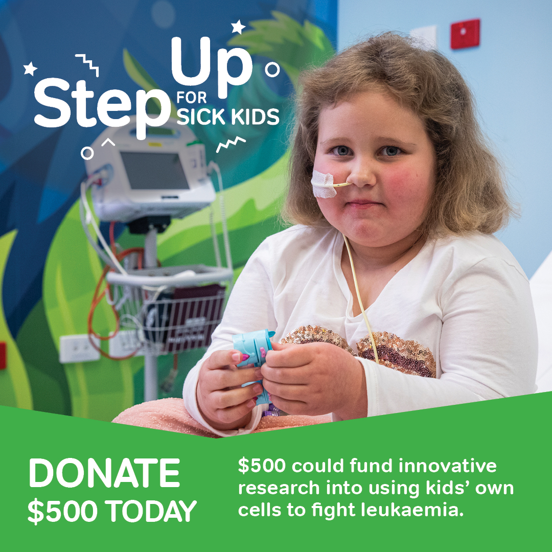 Step Up for Sick Kids - $500 Donation