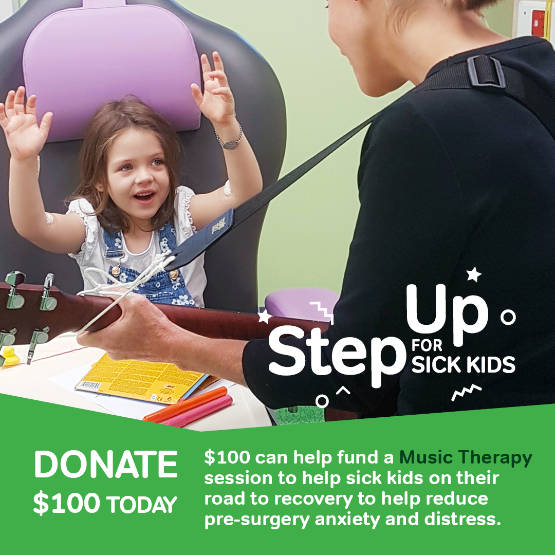 Step Up for Sick Kids $100 Donation