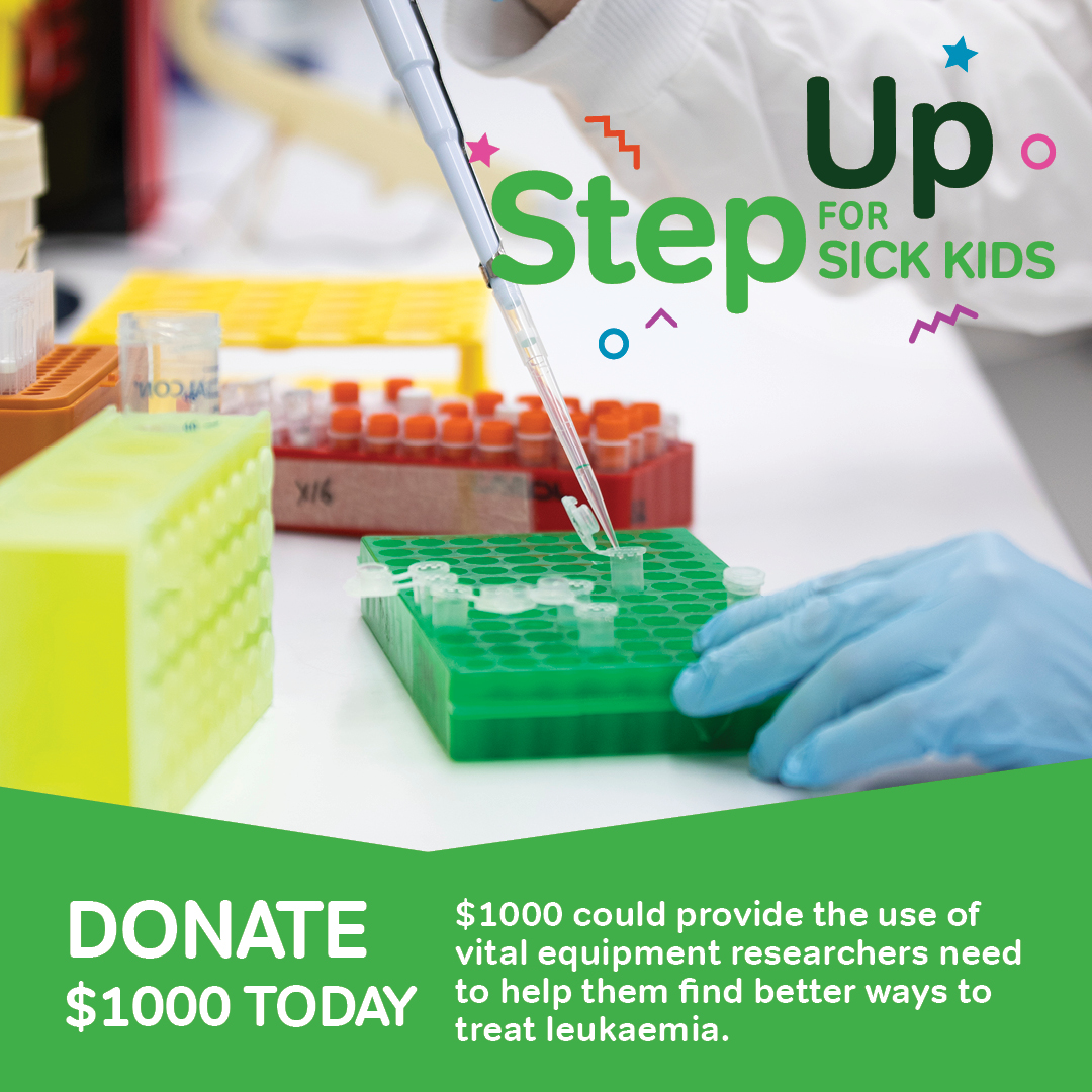 Step Up for Sick Kids - $1000 Donation